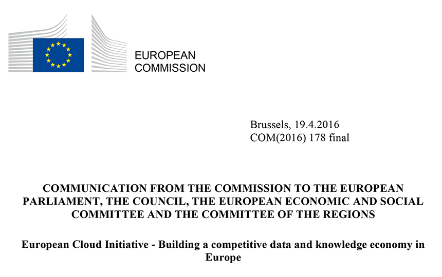 European Cloud Initiative – Building a competitive data and knowledge economy in Europe