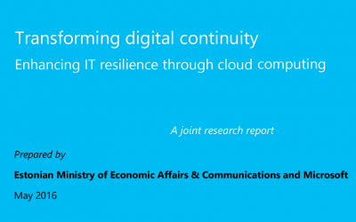 Transforming digital continuityEnhancing IT resilience through cloud computing
