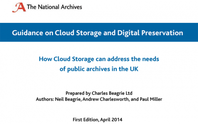 How Cloud Storage can address the needs of public archives in the UK